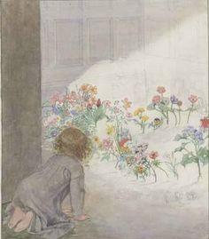 Honor C. Appleton ~ illustration for Little Ida's Flowers by Hans Christian Andersen, 1926 edition. Brighton, Morris, Face Stickers, Children's Book Illustration, Book Illustrations, Art Studies, Animal Paintings, Vintage Children, Vintage Art