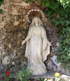 Notre-Dame-des-eaux of Sant-Gildard, Nevers. Favorite image of St Bernadette depicting Our Lady of her apparitions.