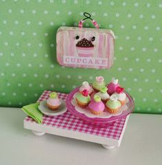 Pink Miniature Cupcakes (1:12 scale)