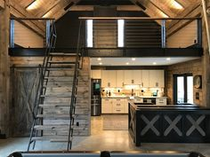 Container House Discover 9 ft Loft ladder Librarian (shipping is ABF trucking loading dock to AFB loading dock ) Design Loft, Garage Design, Tiny House Design, Tiny House Loft, Bus House, Container House Design, Tiny Loft, Tiny House Stairs, Loft Interior Design