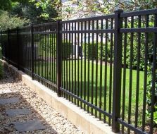 3 Rail Flat Top Aluminum Fence by Mossy Oak Fence