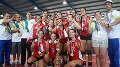 VOLEIBOL FEMENINO: Santa Bárbara 3 - 1 Atenas. Barbareñas campeonas!