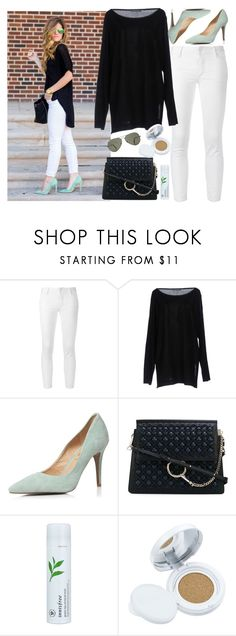 """Classy Casual ⚫🏁⚫"" by niniko-cosmetics ❤ liked on Polyvore featuring Dsquared2, Alberta Ferretti, Dorothy Perkins, Chloé, Innisfree, Etude House and Ray-Ban"