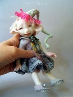 small pixie doll by FELTOOHLALA