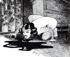 "redlipstickresurrected: ""Johanna Öst (Swedish, based Vallentuna, Sweden) - The Secret Inhabitant, 2014 Drawings: Pen + Ink """