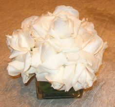 hydrangeas, orchids, mums, daisies are all readily available flowers for arrangements