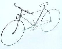 BICYCLE Wire Art - Hand Sculpted Detailed Wire Bike - Cyclist Artwork Decor