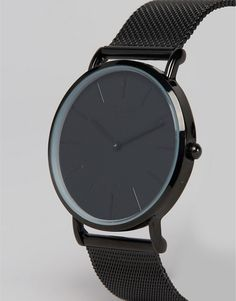 Reclaimed Vintage | Reclaimed Vintage Inspired Classic Mesh Strap Watch In Black Exclusive to ASOS
