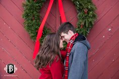 Winter Engagement Photos in Freeport, Maine