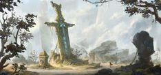 Sword, YE XX on ArtStation at https://www.artstation.com/artwork/sword-b87ecf04-2ab6-4e14-ba9f-735451104b60