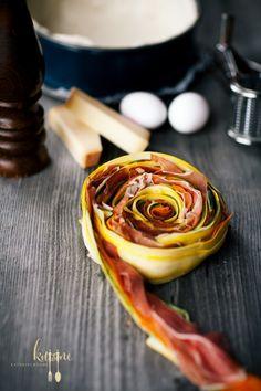 Gerollter Gemüsekuchen - spiral vegetable tart