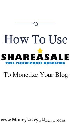 use shareasale  Create passive income for yourself with this technique