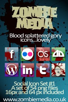 Zombie Social Icons