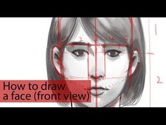 How to draw a face (front view) | LEK CHAN https://www.facebook.com/LekChanBlog
