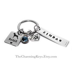 Xmas Gift. Unconditional Love Pet//Dog//Animal Stainless Steel Charmed Keyring