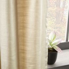 Luster Velvet Curtain - Stone ****Another option? Linen Curtains, Panel Curtains, Velvet Curtains, Curtains, Window Coverings, Curtains And Draperies, Wood Blinds, Colorful Decor, Curtain Decor