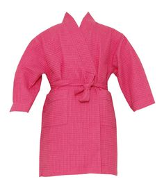 Kimono robe includes two side pockets and bi-level belt. Made of Cotton and Polyester. Do not use bleach. Sizes run a Pamper Party, Spa Party, Flower Girl Robes, Kids Spa, Kids Robes, Monogram Wedding, Spa Birthday, 10th Birthday, Dresses For Work