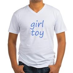 girl toy blue Men's V-Neck T-Shirt > girl toy blue > waysexystuff