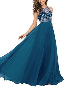 Elegant Chiffon Sparkly Beading A-line Sweep Train Prom Dresses Royal Blue US ** Hurry! Check out this great product : Evening dresses A Line Prom Dresses, Pageant Dresses, Dance Dresses, Homecoming Dresses, Formal Dresses, Chiffon Dresses, Dresses 2016, Special Dresses, Chiffon Maxi