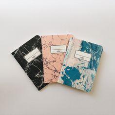 Marbled Pocket Notebooks - 3 Pocket Notebooks Pack - Journal - Sketchbook - Blank pages - Lined pages - Dotted pages Cute Journals, Cute Notebooks, Cover Design, Design Art, Graphic Design, Cool School Supplies, Pocket Notebook, Notebook Covers, Green Dot