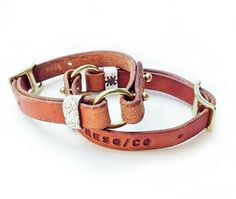 Adjustable Leather Dog Collars from RESQ/CO - Dog Milk