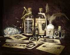 Halloween Apothecary Poison Labels
