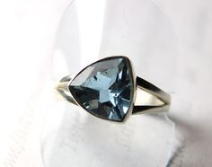 Sister Moon Jewelry  -  Color Change Alexandrite (lab) in Solid Sterling Silver.