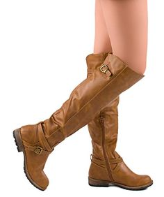 ROF #Women's #Leatherette Block Heel Strappy Over The Knee High Boots  #theladybuff #amazon.com