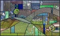 cool abstract stained glass window