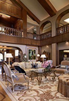 The memories ease the pain inside. Beautiful Living Rooms, Beautiful Interiors, Beautiful Homes, Traditional Interior, Traditional House, Tuscan Style, Interior Exterior, Interior Design, Dream Rooms