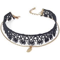 Inc International Concepts Gold-Tone Crochet Pendant Choker Necklace, ($18) ❤ liked on Polyvore featuring jewelry, necklaces, black, inc international concepts, pendant choker, crochet choker, gold colored jewelry and choker pendant necklace