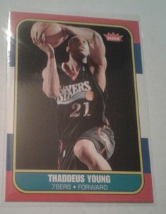 2007-08 FLEER 86 RETRO THADDEUS YOUNG ROOKIE CARD # 86R-161 #IndianaPacers