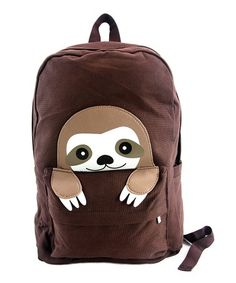 This Brown Peeking Baby Sloth Backpack is perfect! #zulilyfinds
