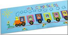Manualidad tren escolar en foami, para poner fotos | Jugar y colorear