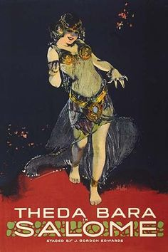Theda Bara as an exotic oriental dancer