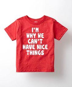 Heather Red 'Nice Things' Tee - Toddler & Kids Sizes 2-5 years