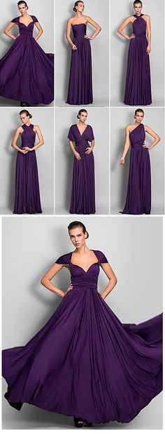 Gorgeous 6 in 1 evening gown for $69.99! No need to buy new dresses, just try different styles. It comes in grape, chocolate, red, black, pearl pink, dark navy colors and more...Click on the picture to check it out.