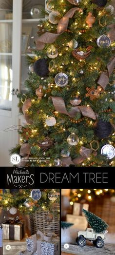 2014 Michaels Dream Tree Challenge | Make it Merry Christmas Tree #michaelsmakers #tagatree