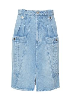 Isabel Marant Kalosia Panelled Denim Midi Skirt In Blue Batik Fashion, Denim Fashion, Denim Skirt Winter, Isabel Marant, Cheap Skinny Jeans, Denim Pencil Skirt, Lookbook, Jeans Style, Minimalist Fashion