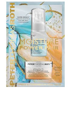 Peter Thomas Roth Moisture Power Pair in , Skin Care Clinic, Hydrating Serum, Peter Thomas Roth, Turmeric Root, Body Makeup, Clean Beauty, Retail Therapy, Moisturizer, Fragrance