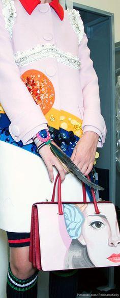 688aacd4607 Prada at Milan Fashion Week Spring 2014 - Prada Bags - Ideasd of Prada Bags  #