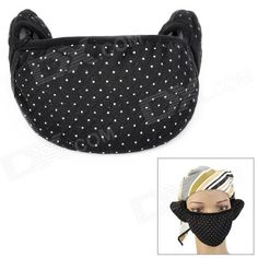 Quantity: 1 Piece; Color: Black / Grey / Coffee; Material: Cotton; Gender: Unisex; Suitable for: Adults; Application: Keep your mouth, face and ear warm; Other Features: Mouth mask length: 20cm, width: 13cm; Ear cover length: 8cm, width: 8.5cm; Others: Random color will be ship; Packing List: 1 x Mask; http://j.mp/1uOsA8z
