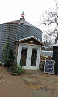 Silo turned store - would like it as a potting shed. Silo turned store - would like it as a potting shed. Silo House, Grain Silo, Pump House, A Frame House, She Sheds, Container House Design, Shed Design, The Ranch, Little Houses