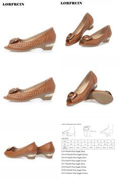 [Visit to Buy] LORFRCIN Genuine Leather Shoes Women Hollow Sandals Women Peep Toe High Heels Sandals Metal Decoration Ladies Shoes Size 34-42 #Advertisement