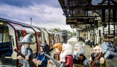 "Mordor via Bank: Bilbo Baggins and buddies take the specially rebranded Northern Line to celebrate the release of LEGO The Hobbit. The actual name of the station is ""Morden,"" but we have been informed that there are no Dark Lords living there."