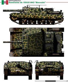 """Regio Esercito - Semovente da 105/25 M-43 """"Bassotto"""""""