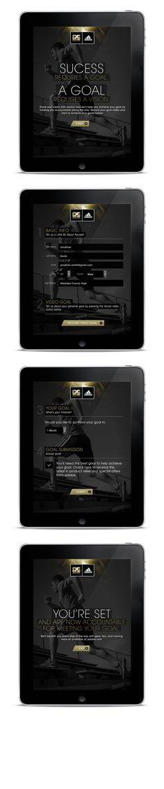 #Adidas Golden Stripes by Moosesyrup, via #Behance #Webdesign #Mobile