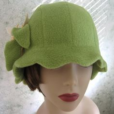 SEWING PATTERN Vintage Flapper Hat With Flower Trim- PDF Easy To Make