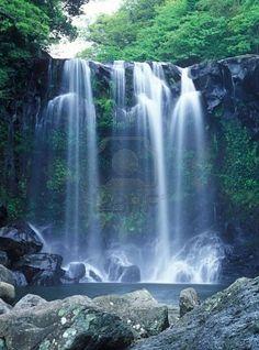 Chunjeyun Waterfall on Jeju Island, South Korea