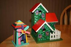 Image result for painted birdhouses